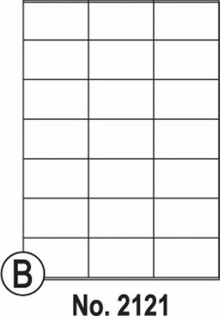 Etikety SOTO 2121, biele, 69.3x42.1