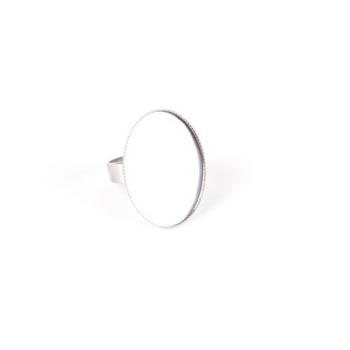 Lôžko na prsteň OVÁL 13 x 18 mm strieborné