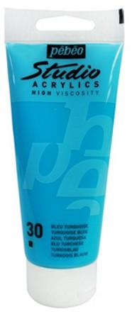 Farba akrylová Studio Acrylic 100ml tyrkysovo modrá