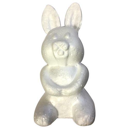 Dekoračný zajac polystyrénový 220mm - 1ks