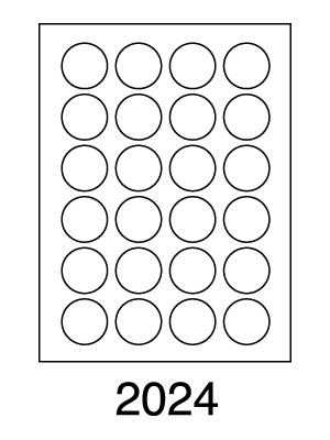 Etikety SOTO 2024, biele, kruhové priemer 40 mm